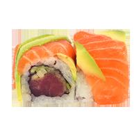 Rainbow roll saumon avocat