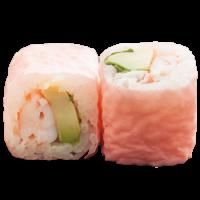 Pink rolls crevette avocat