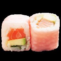 Pink rolls saumon avocat